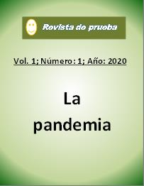 Ver Vol. 1 Núm. 1 (2020): La pandemia
