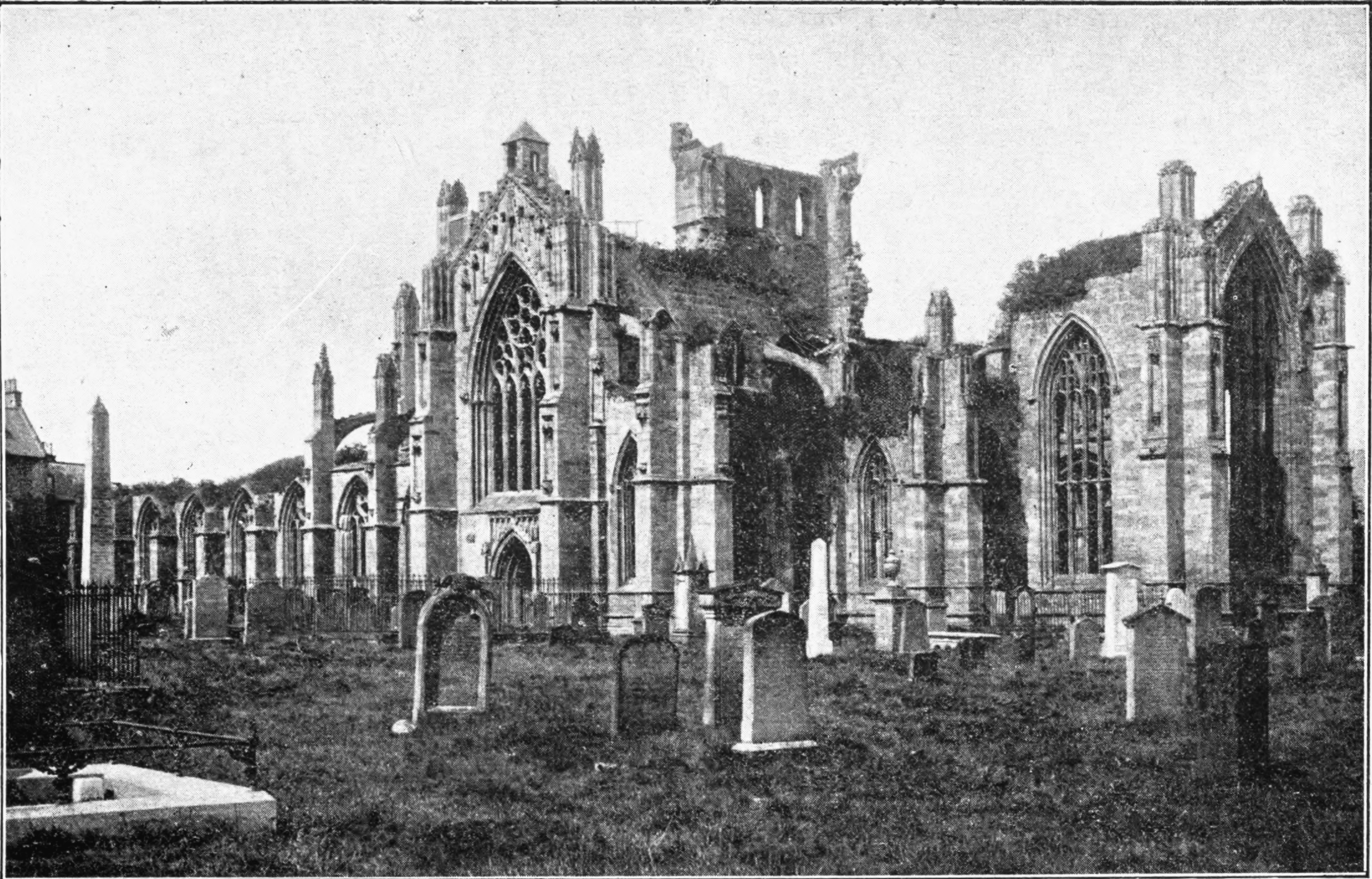 Melrose Abbey (From a photograph by Valentine Bros., Dundee)