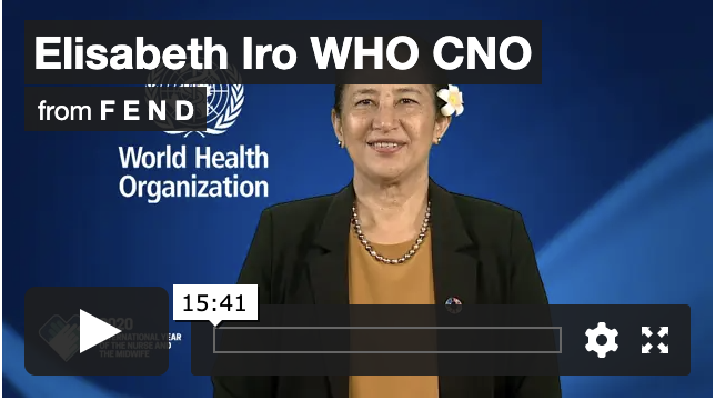 WHO CNO Elisabeth Iro speaking at FEND conference 2020